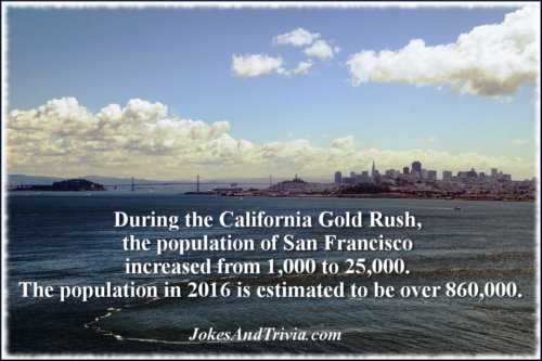 San Francisco population growth during gold rush